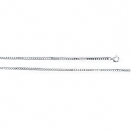 Sterling Silver 18.00 Inch Carded Solid Curb Link Flat Chain