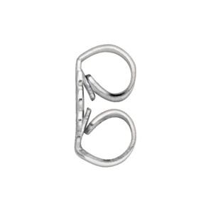 14K White Gold Push On-thread Off Earring Back. Price: $16.30