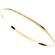 14K Yellow Gold Half Round Bangle Bracelet