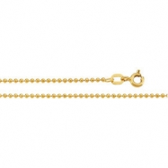 14K Yellow 16 INCH Solid Bead Chain