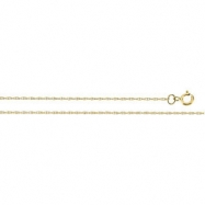 14K Yellow 18 IN Solid Rope Chain