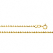 14K Yellow 18 INCH Hollow Bead Chain