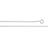 Platinum 18 INCH Solid Cable Chain