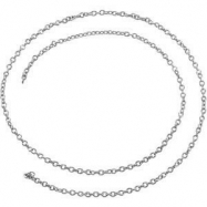 Platinum 20 INCH Solid Cable Chain
