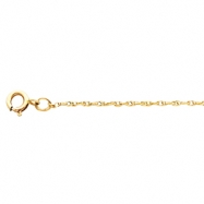 14K Yellow 20 INCH Solid Rope Chain