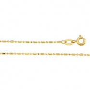 14K Yellow 18 INCH Solid Bead Chain