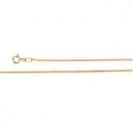 14K Yellow 18 INCH Solid Box Chain