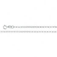 14K White 16 INCH Hollow Belcher Rolo Chain