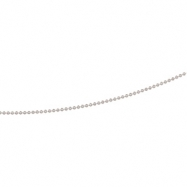 Sterling Silver 18 INCH Bead Chain With Spring Ring