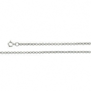 Sterling Silver 20 INCH Rolo Chain With Spring Ring