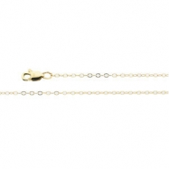 14K Yellow 24 INCH Lasered Titan Gold Cable Chain