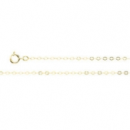 14K Yellow 7 INCH Lasered Titan Gold Cable Chain