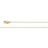 14K White 16 INCH LASERED TITAN GOLD ROPE CHAIN Lastered Titan Gold Rope Chain