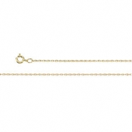 10K White 14.00 INCH  LASERED TITAN GOLD ROPE CHAIN Lasered Titan Gold Rope Chain