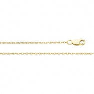 14K White 24 INCH LASERED TITAN GOLD ROPE CHAIN Lasered Titan Gold Rope Chain