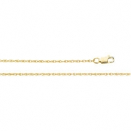 14K Yellow 7 INCH Lasered Titan Gold Rope Chain
