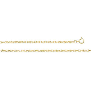 14K Yellow 18 INCH Lasered Titan Gold Rope Chain. Price: $214.23