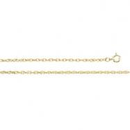 14K White 18 INCH LASERED TITAN GOLD ROPE CHAIN Lasered Titan Gold Rope Chain