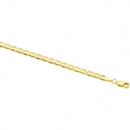14K Yellow 8 INCH Solid Anchor Chain