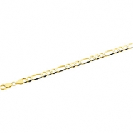 14K Yellow 8 INCH Solid Figaro Chain