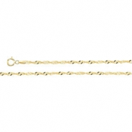 14K Yellow 7 INCH Singapore Chain