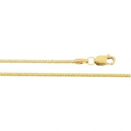 14K Yellow 18 INCH Snake Chain