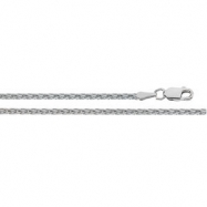 14K White 16 INCH Diamond Cut Wheat Chain