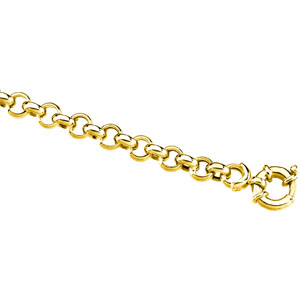14K Yellow 16 INCH Hollow Rolo Chain. Price: $2285.12