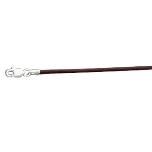 14K White Gold 16.00 Inch Brown Leather Cord. Price: $50.67