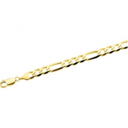 14K Yellow 8 INCH Figaro Chain