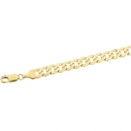14K Yellow 24 INCH Solid Curb Chain