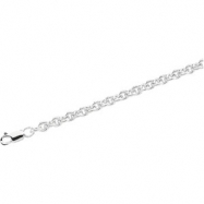 Sterling Silver 20 INCH Wire Cable Chain