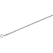 14K White 18 INCH Solid Rope Chain