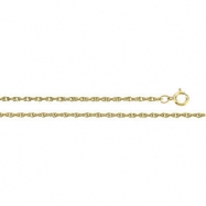 14K Yellow 18 INCH Solid Rope Chain