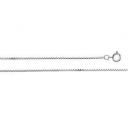 Sterling Silver 18 INCH Diamond Cut Box Chain