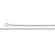 14K White 7 INCH Rope Chain