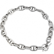 Sterling Silver 18.00 INCH STERLING SILVER LINK CHAIN Sterling Silver Link Chain