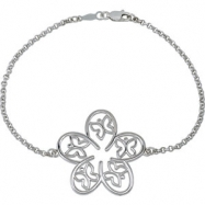 07.50 Inch Precious Fashion Butterfly And Floral Bracelet Metal Fash Btrfly Flrl Brc