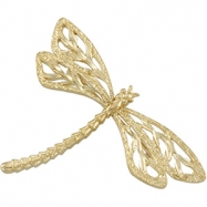 14K Yellow Gold Dragonfly Brooch