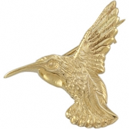 14K Yellow Gold Hummingbird Brooch