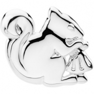 Sterling Silver The Trusting Squirrel Brooch