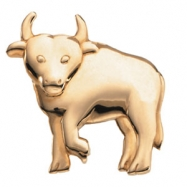 14K Yellow Gold The Playful Bull Brooch