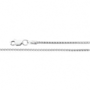 14K White Gold 18 Inch Popcorn Chain