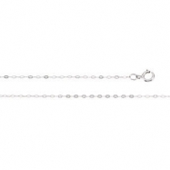 14K White 18 INCH Cable Chain