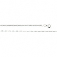 Sterling Silver 18 INCH Cable Chain