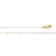 14K Yellow 7 INCH Lasered Titan Gold Curb Chain