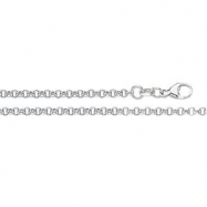 18K White Gold 18 Inch Rolo Chain