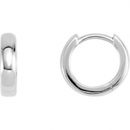 Platinum Each Hinged Earring