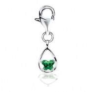Sterling Silver May Bfly Cz Birthstone Charm