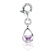 Sterling Silver June Bfly Cz Birthstone Charm